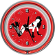 Pin-Up Girl Neon Wall Clock