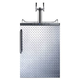 Summit Under Counter Kegerator - 2 Faucets - Diamond Plate Door