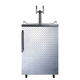 Summit Kegerator - 2 Faucets - Diamond Plate