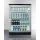 Summit Glass Door Built-In Under Counter Beverage Merchandiser - 5.5 cu. ft.