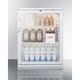Summit Glass Door Built-In Under Counter Refrigerator - 5.5 cu. ft. - White