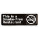 Smoke Free Restaurant Plastic Business Sign