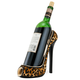 High Heel Shoe Wine Bottle Holder - Leopard