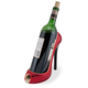 High Heel Shoe Wine Bottle Holder - Red Glitter