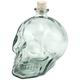 Skull Shaped Hand Blown Glass Decanter - 1 Liter