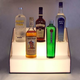 18-inch 3 Tier Lighted Stair Liquor Bottle Display Shelf