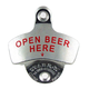 Open Beer Here Wall Mounted Bottle Opener