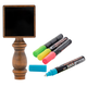 Tap Board Chalk Board Tap Handle with 4 Chalk Markers