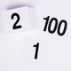 Plastic Table Marker Number Cards for Banquets or Poker Tables