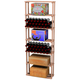 Traditional Redwood Rectangular Wine Case Rack - Holds 180 Bottles