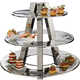 Stainless 3-Tier Hors D'oeuvre Display Stand