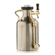 uKeg 64 Pressurized Beer Growler - Stainless Steel