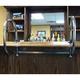 Rounded Bar Service Rail - Double Arm - Chrome - 1