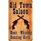 Vintage Old Town Saloon Metal Bar Sign