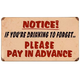 Drinking To Forget Please Pay In Advance Metal Bar Sign