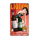 Vintage Liquor Pin-Up Girl Metal Bar Sign