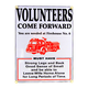 Volunteer Firefighters Metal Bar Sign