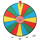 Dry Erase Tabletop Prize Wheel - Colored Face