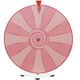 Dry Erase Tabletop Prize Wheel - Pink Face