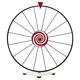 Dry Erase Tabletop Prize Wheel - White Face