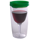 Vino2Go Insulated Wine Tumbler - Emerald Green Lid - 10 oz
