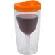 Vino2Go Insulated Wine Tumbler - Orange Lid - 10 oz