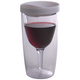 Vino2Go Insulated Wine Tumbler - White Lid - 10 oz