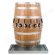 Wood Barrel Draft Beer Tower with Matching Drain Tray - 3 to 6 Faucets