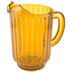 Beverage Pitcher - Amber Plastic - 60 oz