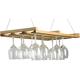 JK Adams Hanging Wooden Stemware Rack
