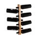 JK Adams Wall Mounted Hickory Wine Tree - Holds 7 Bottles