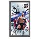 WWE The Rock Dwayne Johnson Framed Logo Bar Mirror