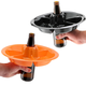 The Go Plate Orange & Black Halloween 20 Plate Party Pack - Reusable Food & Beverage Holder