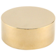 External Flat End Cap - Polished Brass - 2