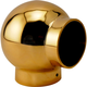 Ball Elbow Fitting 90 Degree - Polished Brass - 1.5