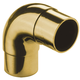 Curved Flush Elbow Fitting 90 Degree - Polished Brass - 1.5