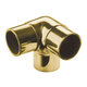 Flush Side Outlet Handrail Elbow Fitting - Polished Brass - 1.5
