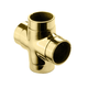 Flush Cross Fitting - Polished Brass - 1.5