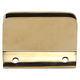 Rectangular Glass Clip with Stopper - Polished Brass - 1.5