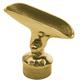 Adjustable Saddle Post - Polished Brass - 1.5