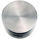 Flush Flat End Cap - Brushed (Satin) Stainless Steel - 1.5