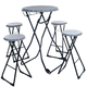 Portable Fold Up Bottle Cap Stool & Table Tailgate Set - 5 Pieces