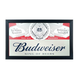Budweiser King of Beers Framed Bar Wall Mirror