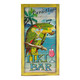 Painted Wooden Tiki Bar Sign with Parrot