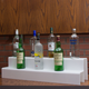 34-inch 2-Tier Liquor Bottle Shelf - White
