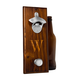 Personalized Rustic Wood Wall Mounted Bottle Opener with Magnetic Cap Catcher