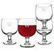 Personalized Stackable Low Stem Wine Glasses - 10.75 oz - Set of 4