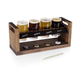 Craft Beer Tasting Flight Rack Set with Chalkboard Panel - 6 Pieces