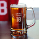 Personalized Football Jersey Beer Mug - 25 oz