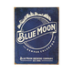 Blue Moon Skyline Retro Logo Metal Bar Sign